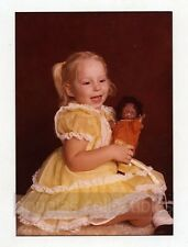 Color studio  Photo Girl with Doll 1980s