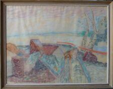 INGA LARSSON (SCHWEDEN *1927) EXPRESSIVE LANDSCHAFT - 1949 DATIERT
