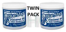 2 x Originale Blue Magic l'Olio di Cocco Balsamo per capelli - 12 OZ