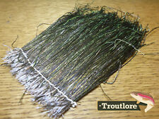 """STRUNG PEACOCK HURL LARGE BUNDLE - PEACOCK HERL 4-8"""" LONG NEW FLY TYING FEATHERS"""