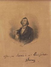 Portrait dédicace du poète Jasmin(1798-1864)MONTAUT D'OLÉRON Louis Guibal AGEN
