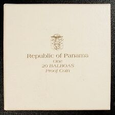 1971 Panama 20 Balboas Proof Silver Coin