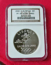 2002 Salt Lake City Olympics proof silver commemorative-PF69 DCAM-PCGS