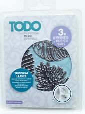 Todo Letterpress Tropical Leaves Hot Foil Plates. 150847 New In Package
