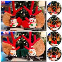Christmas Deer Horn Hair Clip Children Girls Antlers Hairpins Xmas Headband Gift