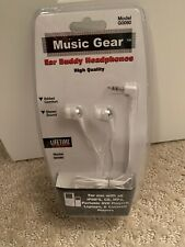 Music Gear EarBuddy Headphones for iPods, CD, MP3, Etc