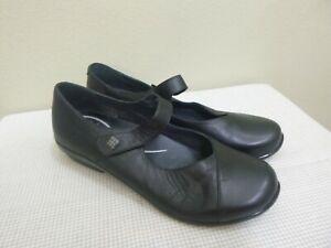 DANSKO OPAL 11.5 12 42 Black Leather Strappy Slip On Low Wedge Mary Janes Clogs