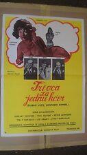 Tri Oca La Jednu Kcer Original 1968 Yugoslavian Movie Poster