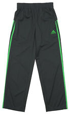 Adidas Youth Loose Core Athletic Pants, Grey / Lime Green