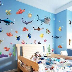 Finding Nemo Shark Fish Bathroom Mural Wall Sticker Decals Decor Kids Fun
