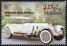 1927 MERCEDES-BENZ Model S Tourer Mint Automobile Car Stamp (2001 Maldives)