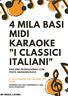 "4 MILA BASI KARAOKE MIDI PROFESSIONALI ""I CLASSICI ITALIANI"" DOWNLOAD IMMEDIATO"