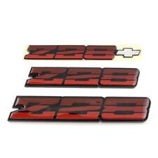 82-87 Camaro Z28 OEM Tri Color Red Rocker Emblem Set *Z28TRIREDOEREP