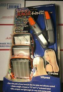 NEW Wave Rage 4-in-1 Palm Mini Hair Crimper Straightener Iron Helen of Troy NOS!