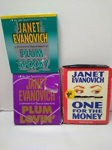 Lot of 3 Janet Evanovich audiobooks Books on CD. plum spooky, plum lovin, one