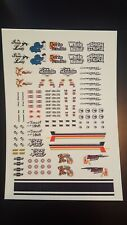 Hot Wheels Custom 1/64 transparent water slide decals for Gassers & more!