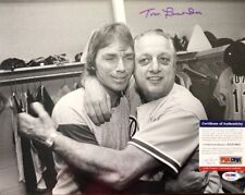 Tommy Lasorda Signed Dodgers 11x14 Photo *1981 1988 WS Champs PSA