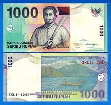 Indonesia P-141 1000 Rupiah Year 2013 Volcano Uncirculated Banknote