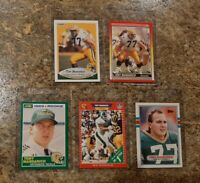 (5) Tony Mandarich 1989 Score Topps Pro Set Rookie Card Lot RC Packers 1990 MSU