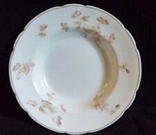 Vintage Semi-Porcelain Royal Johnson Bros England Floral Gold Trim Soup Bowl