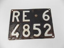 1950's VINTAGE ITALIAN STEEL RR LICENSE PLATE FRONT REAR FERRARI PORSCHE LANCIA