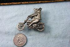 HOG RIDING MOTORCYCLE PEWTERTONE PIN