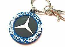 Rubber keychain for Mercedes Benz key ring AMG, soft light PVC badge emblem