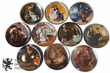 10 Knowles Norman Rockwell Society of America Collector Plates Ltd Ed Heritage