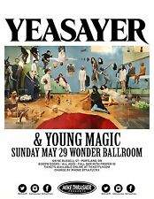 Yeasayer / Young Magic 2016 Portland Concert Tour Poster-Experimental Rock Music