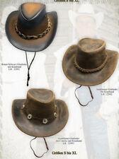 Cowboy Hut Crocodile Dundee Australian Trapper Leder Country Western Modell neu