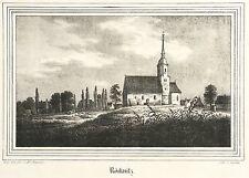 RÖCKNITZ (THALLWITZ) - St. Nikolaus Kirche - Kirchen-Galerie - Lithografie 1840