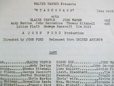 John Wayne Stagecoach Movie Synopsis John Ford Claire Trevor Walter Wanger