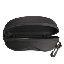Zipper Eye Glasses Sunglasses Hard Case Cover Bag Black Storage Box Protector