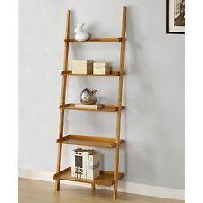 OpenBox Mintra Oak Finish 5-Tier Ladder Book Shelf