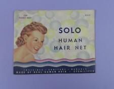 Vintage Unused Hair Net -  Solo, Double Mesh Cap - Black