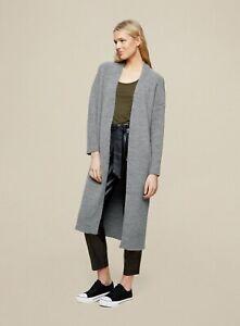 Dorothy Perkins Womens Light Grey Maxi Cardigan Knitwear Jumper Top Long Sleeve