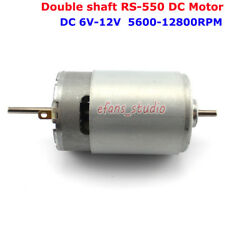 Double Shaft RS-550 Motor DC 6V~12V 12800RPM High Speed DIY Electric Drill Model