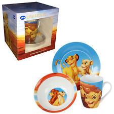 Disney le roi lion COFFRET en céramique petit déjeuner Set-Mug, bol, assiette