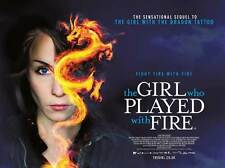 THE GIRL WHO PLAYED WITH FIRE Movie POSTER 22x28 UK Noomi Rapace Michael Nyqvist