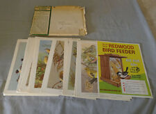 1960 General Mills Bird Portraits In Color Full 30/30 Premium Card Set + Mailer