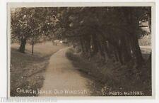 Church Walk Old Windsor, W.J. Young RP Postcard, B427
