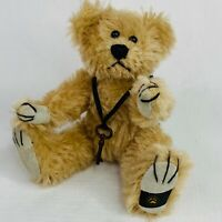 Boyds Mohair Bear Collection Metal Key Necklace Jointed Beige Vintage 1999