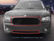 Fits 2005-2010 Dodge Charger Aluminum Black Billet Grille Insert Combo Fedar