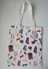 Radley-Ortografía-Bolso de lona de algodón natural/compradores-Radley letras de perro