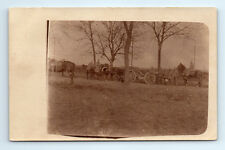 ANTIQUE Vintage WW1 GERMAN Real Photo RPPC Postcard ARTILLERY SOLDIERS & HORSES