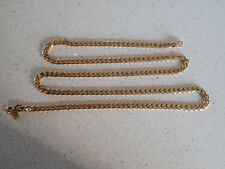 VINTAGE HEAVY GOLD PLATED NECKLACE 80cm Long