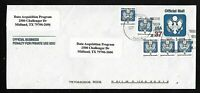 U.S. SCOTT #UO91 Type I Official Mail Used (Unwatermarked) W/ Franking Stamps