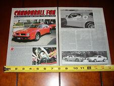 1974 PONTIAC TRANS AM SD 455 CANNONBALL  - ORIGINAL 2000 ARTICLE