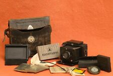 Ernemann 4.5 x 6 cm Camera, Case, Filmholders and Extras