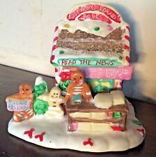 Gingerfrost Lane 2005 By Greenbrier Christmas Gingerbread News Stand Porcelain
